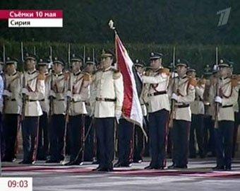 В честь первого визита Медведева сирийцы исполнили фальшивый гимн России