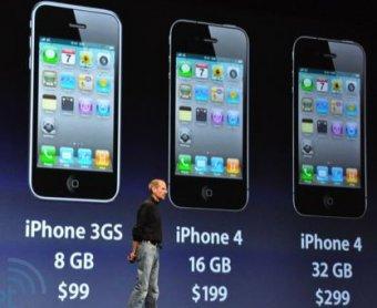Глава Apple Стив Джобс представил iPhone 4