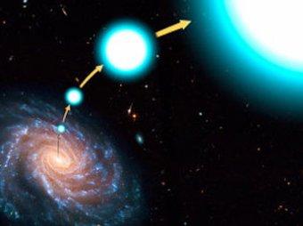 Черная дыра в центре нашей галактики стреляет звездами