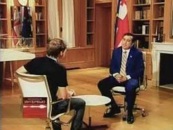 """Саакашвили белорусскому ТВ: """"Я не понимаю, что от меня хочет Россия"""""""