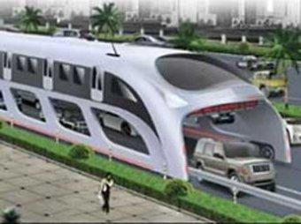 Создан автобус, объезжающий пробки поверху