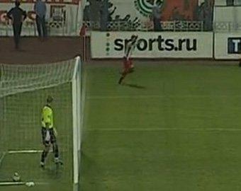 Гол в матче российской премьер-лиги стал хитом в интернете