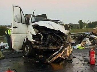 Крупное ДТП на МКАД: столкнулись 11 автомобилей