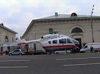 Замминистра улетел из пробки на МКАД на вертолете МЧС