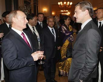 "Путин назвал Леонардо ди Каприо ""настоящим мужиком"""