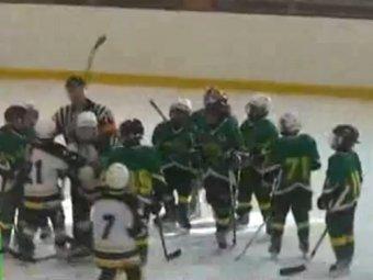 Драка юных российских хоккеистов ужаснула мир
