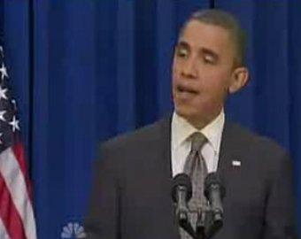 Обама выбил дверь ногой в Белом Доме