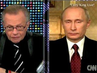 Путин рассказал Ларри Кингу про Медведева, Бэтмена и Робина