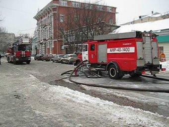 В центре Москвы на новогодней елке произошел пожар