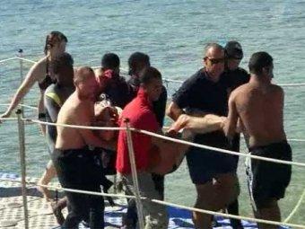 Жертву акулы-людоеда сняли сразу после нападения