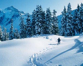 Сильный ветер сдул двух лыжников на одном из курортов США