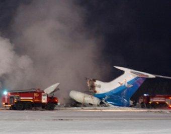 Опубликовано видео с места пожара ТУ-154М в Сургуте
