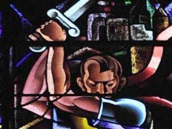 В церкви нашли изображение Гитлера в образе Ирода