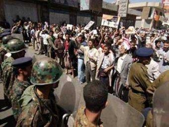2 тыс. полицейских вышли на улицы Йемена, чтобы усмирить манифестантов