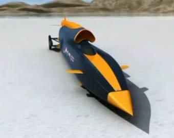 В Англии начали строить сверхзвуковой автомобиль Bloodhound
