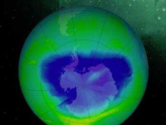 Над Северным полюсом образовалась гигантская озоновая дыра