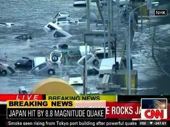 Япония во власти цунами: 10-метровые волны накрыли страну