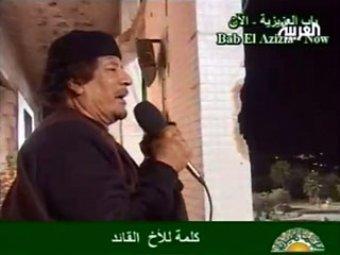 Каддафи снова показался в эфире. Полковник предложил за голову каждого повстанца 350 евро