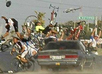 В Бразилии пьяный водитель сбил 40 велосипедистов