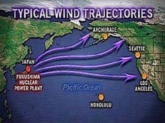 Радиоактивные облака из Японии движутся в сторону США