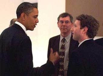 Обама впервые пообщался с пользователями Facebook