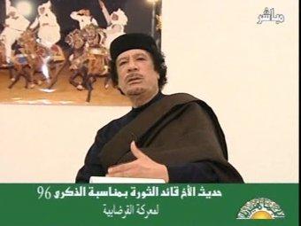 ВВС НАТО попытались убить Каддафи во время прямого эфира