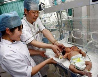 В Китае появился на свет двухголовый младенец