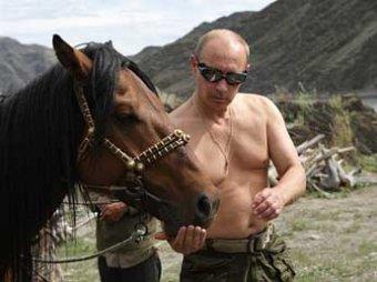 Путин посчитал свои фото с голым торсом вполне политкорректными