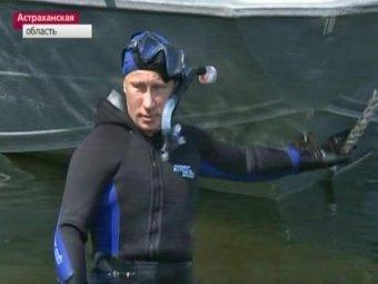 """Тандем спустился под воду. А блогеры иронизируют над """"везуничиком"""" Путиным"""
