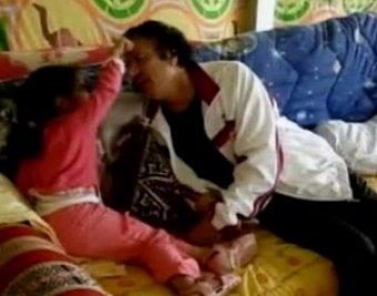 Обнародовано домашнее видео с полковником Каддафи
