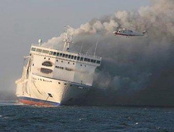 Крупный пожар на круизном лайнере в Норвегии: 2 человека погибли