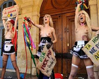 Активистки FEMEN атаковали парижскую квартиру Стросс-Кана