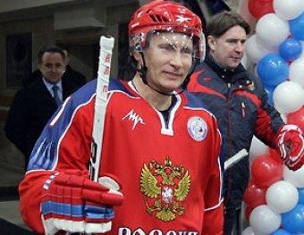 Путин вышел на лед с легендами хоккея и нашел спонсора ЦСКА