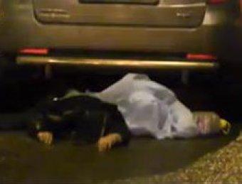 В Люберцах джип протащил сбитую девушку километр по асфальту