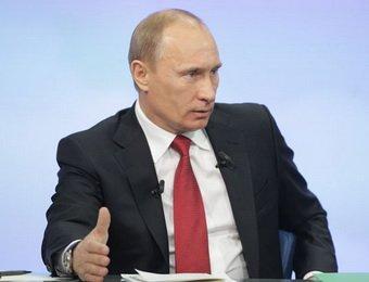 Путин начал прямую линию с вопросов про выборы и митинги