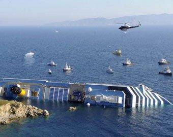Гибель Costa Concordia сняли из космоса