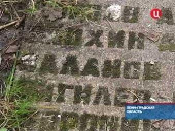 В Ленобласти дачник на своем участке выложил двор надгробиями павших воинов