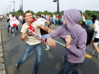 В драке после матча с Польшей ранено 10 российских болельщиков