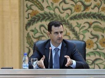 Башар Асад впервые назвал происходящее в Сирии «войной»