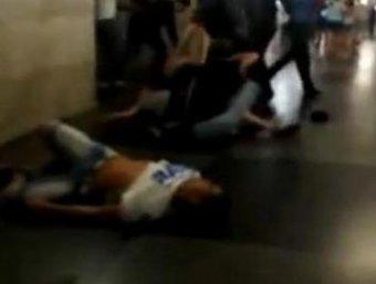 """На станции метро """"Спортивная"""" произошла массовая драка"""