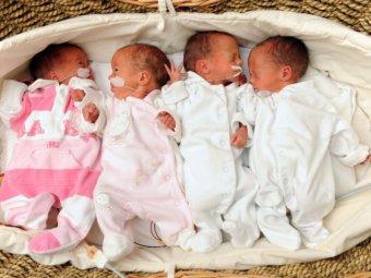 В Новосибирске женщина родила сразу четырех близнецов