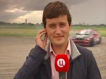 Журналиста ТВЦ сбила машина в прямом эфире