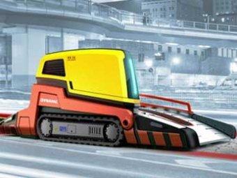 Шведы создали асфальтоукладчик, пропускающий через себя машины
