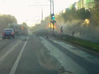 В Сети появилось видео страшного ДТП на Рязанском проспекте с участием Lexus