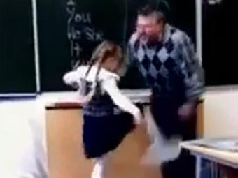 """Видео, на котором школьница бьёт учителя в пах, оказалось вирусной рекламой """"Муз-ТВ"""""""
