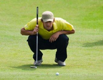 Майклу Фелпсу удался мега-удар на турнире по гольфу