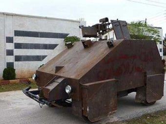 В Сирии повстанцы построили танк, управляемый с помощью Sony Playstation