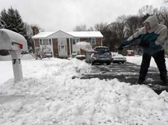 В Рождество на южные штаты США обрушилось снежное торнадо: без света 100 тыс. человек