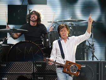 Пол Маккартни выступил с группой Nirvana в Нью-Йорке