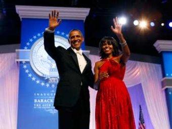 Инаугурация Обамы закончилась триумфом его жены